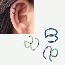 5PCS 16G Non-piercing Fake Lip Nose Ring Clip-on Cartilage Septum Earring Hoop