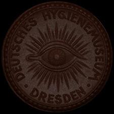 DRESDEN: Porzellan-Medaille ohne Jahr (1922/1930), Meissen. HYGIENE-MUSEUM.