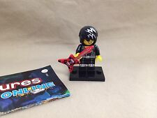 Lego Minifigure Series 12 Figure Rock Star Guitar Guy New Loose with Online Code