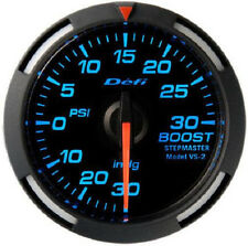 Defi Racer Turbo Boost Gauge -30inHg to +30PSI 52mm w/ Blue LED DF06501 NEW