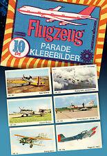 6 AMERICANA FLUGZEUG PARADE SAMMELBILDER | UNGEKLEBT IN TOP 1972 SCHÖNE RARITÄT
