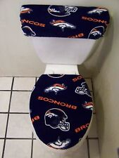 DENVER BRONCOS FLEECE TOILET SEAT COVER SET