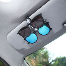 Dual Clip Pen Holder Sun Visor Glasses Sunglasses Eye Glasses Card Durable