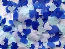 1200 Corazón de papel tisú Biodegradable Confeti Azul Blanco Boda Fiesta romántico