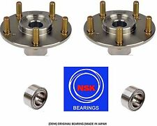 2002-2006 Acura RSX Type S Front Wheel Hub &(OEM) NSK Bearing Kit (PAIR)