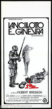 LANCILLOTTO E GINEVRA LOCANDINA CINEMA BRESSON 1974 LANCELOT DU LAC AFFICHE