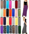 NEW LONG MAXI SKIRT WOMENS GYPSY BODYCON JERSEY LADIES DRESS FULL PLUS SIZE 8-26