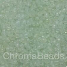 50g glass seed beads - Clear Frosted - approx 2mm (size 11/0) jewellery making