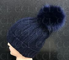 Fashion Design Women Men Winter Hat Soft Fur Big Pom Pom Knit Beanie Bobble Hats
