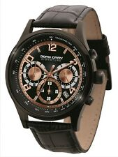 Jorg Gray Men's JS0140 Signature Chronograph Black IP Black Leather Watch