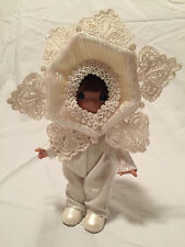 "Precious Moments Christmas Doll ""LET IT SNOW"" (#2101) 7"" Doll dated 2005"