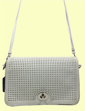 COACH 23404 Legacy Perforated Penelope Penny Leather Shoulder X-Body Msrp $298