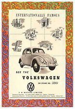 Retro Wall POSTER - Vintage Volkswagon Beetle Car Advertisement #1