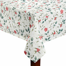 "60"" x 144"" Christmas Holiday Pfaltzgraff Winterberry Fabric Tablecloth FREE SHIP"