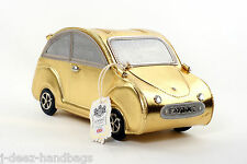 NEW LYDC Designer Women,s Beetle CAR Handbag Patent Ladies Purse GOLD