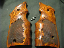 """Ruger Mark Mk IV ONLY Rosewood """"Checkered"""" FG Target Pistol Grips -Beautiful New"""