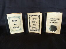 3 Harry Potter books. Book of Spells, Potions, Curses. Handmade Leather spine.