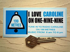 Radio CAROLINE Pirate Radio Classic Car STICKER 60's Autocollant Retro Vintage