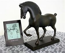 HORSE SCULPTURE STATUE LEONARDO DA VINCI SCHOOL BRONZE FINISH NEW