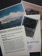 5/86 PUB SPERRY EFIS FMS AVIONICS DELTA AIR LINES MD-88 AIRLINER ORIGINAL AD