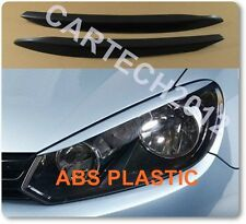 Volkswagen GOLF VI Mk6 Headlight Eyebrows, Eyelids ABS plastic