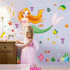 Disney Little Mermaid Ariel Wall Art Sticker Princess Kids Room Decoration Mural