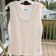 Vintage Malo Sleeveless Cashmere Top, Size 48