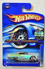HOT WHEELS 2005 '58 FORD THUNDERBIRD SILVER FACTORY SEALED