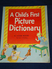 Vintage PB  A CHILD'S FIRST PICTURE DICTIONARY 1948 Wonder books