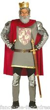 Mens Medieval King Richard English Monarch Lionheart Fancy Dress Costume Outfit