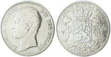 BELGIQUE  LEOPOLD  I°  ,  5  FRANCS  ARGENT  TETE  NUE  1850 B