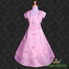 Pink Wedding Flower Girl flowergirl Party Dress Size 12