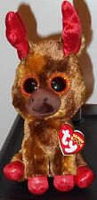 """Ty Beanie Boos - MAPLE the 6"""" Canada Exclusive Moose ~ 2017 NEW ~ IN HAND (USA)"""