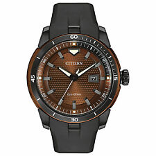 Citizen Eco-Drive Ecosphere Brown Dial Resin Strap Men's Watch AW1476-18X SD