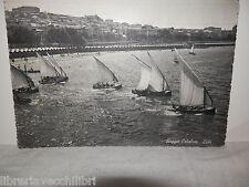 Vecchia cartolina foto d epoca di reggio calabria lido 1957 barche mare palazzi