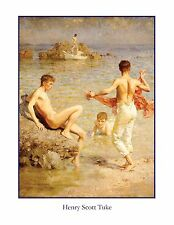 NUDE MAN SWIMMING MAN NAKED MALE BEACH BOYS ART PRINT EROTIC GAY INTEREST POSTER