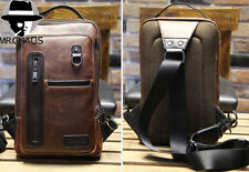 Men's Handbag PU Leather Sling Messenger Shoulder Bag Chest Pack Sports Backpack