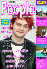 MICHAEL CLIFFORD 5SOS Personalised Birthday'MAGAZINE STYLE' Card ANY NAME!!!
