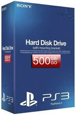 Sony PS3 Super Slim Hard Disk Drive Caddy with 500gb Hard Drive**New & Sealed**