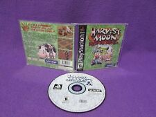 Harvest Moon: Back to Nature (Sony PlayStation 1, 2000) Complete Black Label