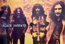 """BLACK SABBATH """"GROUP BY BRICK WALL"""" POSTER FROM ASIA -Ozzy, Geezer, Tony & Bill"""