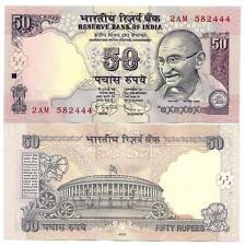India india 50 rupias 2009 no letter UNC p 97