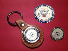 PRESIDENT OF THE UNITED STATES, AIR FORCE ONE: KEY RING, BADGE &  PHONE STICKER