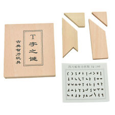 1X T Word Puzzle Tangram Solid Wooden Brain Teaser Puzzle Intellectual Toy JB