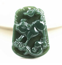 Hand carved natural green jade pig jade gift pendant necklace