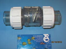 "CHECK VALVE 3/4"" TRUE UNION CLEAR PVC SWING CHECK VALVE - socket"