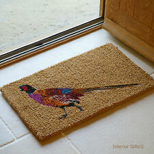 NATURAL COIR DOORMAT Quality Coconut Entrance Door Mat PHEASANT country Porch