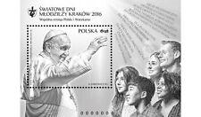 2016 Giornata della gioventù - Polonia - foglietto erinnofilo