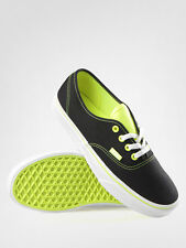 NEW VANS AUTHENTIC T POP NEON BLACK YELLOW SHOES MENS 8.5 WOMENS 10 NEW ERA NIB
