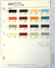 1983 INTERNATIONAL TRUCK SHERWIN WILLIAMS  COLOR PAINT CHIP CHART ALL MODELS